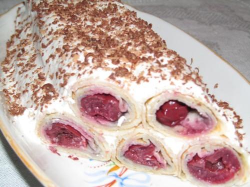Торт катюша рецепт с вишней с фото