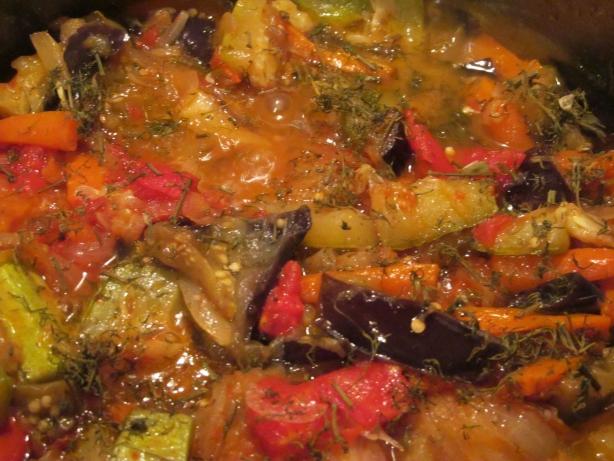 Овощное рагу из баклажанов и кабачков рецепт с пошагово