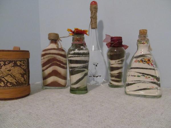 Декоративное украшение бутылок